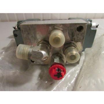 Hydraulic Qatar Control Valve With Two Nachi Hydraulic Coils EA64-D2-1A 24VDC