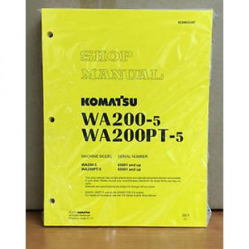Komatsu Gibraltar  WA200-5H, WA200PT-5H Wheel Loader Shop Service Repair Manual