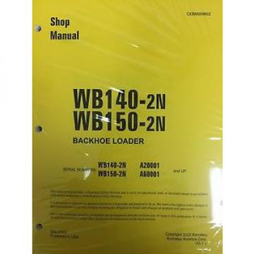 Komatsu Hongkong  WB140PS-2N, WB150PS-2N Backhoe Service Shop Manual