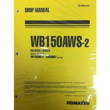 Komatsu Cuinea  Service WB150AWS-2 Backhoe Loader Shop Manual