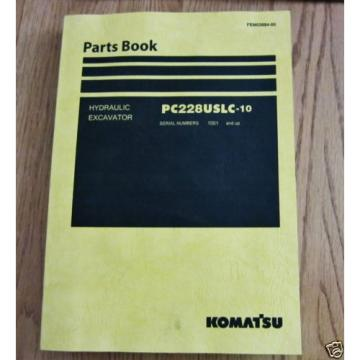 KOMATSU Denmark  HYDRAULIC EXCAVATOR PC228USLC-10 PARTS BOOK SER # 1001 AND UP