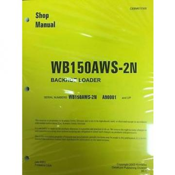 Komatsu Netheriands  Service WB150AWS-2N Backhoe Loader Shop Manual