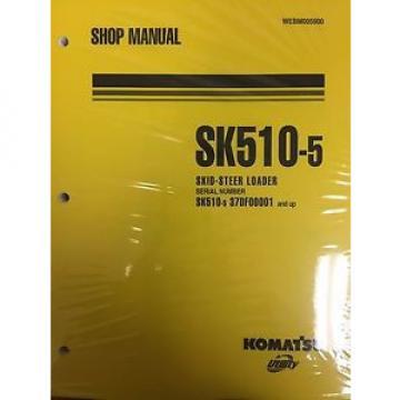 Komatsu CostaRica SK510-5 Crawler Skid-Steer Track Loader Shop Repair Service Manual