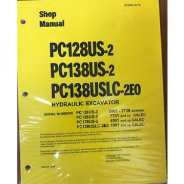 Komatsu Cuba Service PC128US-2, PC138US/USLC-2 Shop Manual