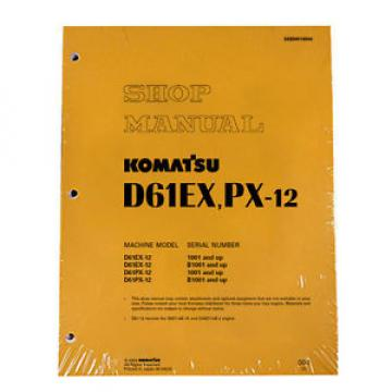 Komatsu Moldova, Republic of  Bulldozer D61EX-12, D1PX-12 Service Repair Printed Manual