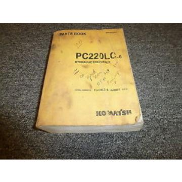 KOMATSU Solomon Is  PC220LC-6 Hydraulic Excavator Original Parts Catalog Manual Guide Book