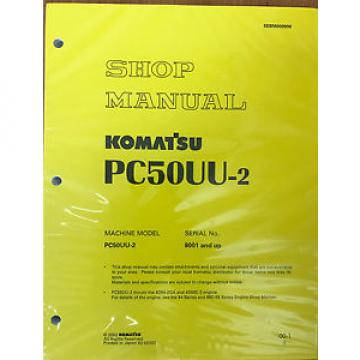 Komatsu Egypt  Service PC50UU-2 Excavator Shop Repair Manual