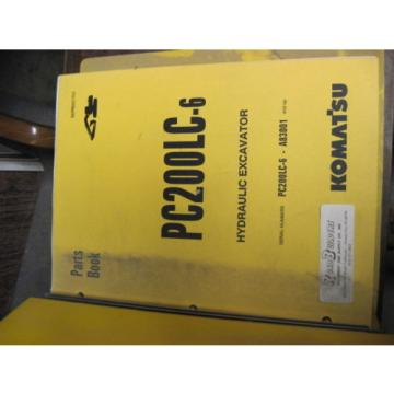 OEM Netheriands  KOMATSU PC200LC-6 Hydraulic Excavator PARTS Manual
