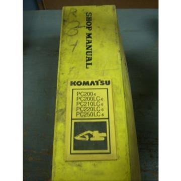 Komatsu Honduras  Shop Manual PC200 PC200 PC210 PC220 PC250 Hydraulic Excavator
