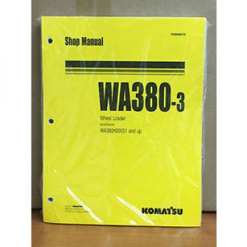 Komatsu Cuinea  WA380-3 Wheel Loader Shop Service Repair Manual (WA380H20051 & up)