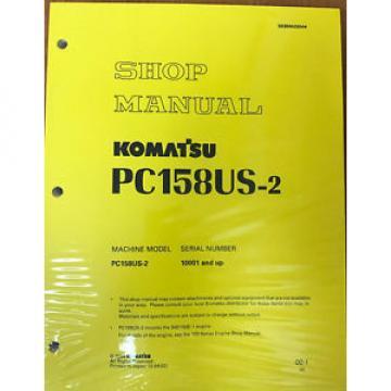 Komatsu SamoaEastern Service PC158US-2, PC158USLC-2 Shop Manual NEW