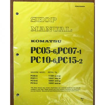 Komatsu France  PC05-6 PC07-1 PC10-6 PC15-2 Shop Service Repair Printed Manual