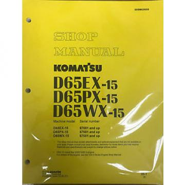 Komatsu Luxembourg  D65EX-15, D65PX-15, D65WX-15 Service Repair Printed Manual