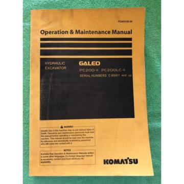 Komatsu Luxembourg PC200LC-8 PC200-8 Service Repair Manual C 60001 and Up. PEN00108-00