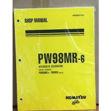 Komatsu Liberia  Service PW98MR-6 Excavator Shop Manual NEW REPAIR