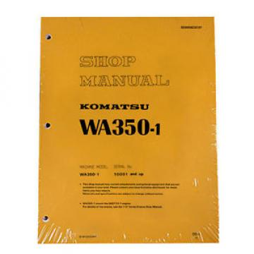 Komatsu Brazil  WA350-1 Wheel Loader Service Repair Manual