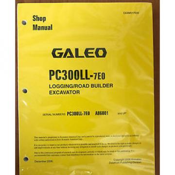 Komatsu Liechtenstein Service PC300LL-7E0 Shop Repair Manual NEW