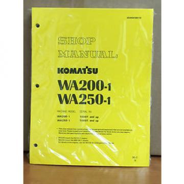 Komatsu SolomonIs WA200-1, WA250-1 Wheel Loader Shop Service Repair Manual
