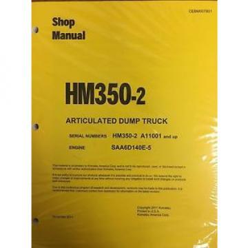 Komatsu UnitedStatesofAmerica HM350-2 Shop Service Manual Articulated Dump Truck