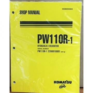 Komatsu Russia  Service PW110R-1 Excavator Shop Manual NEW REPAIR