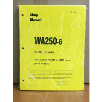 Komatsu France  WA250-6 Wheel Loader Shop Service Repair Manual