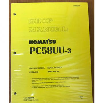 Komatsu France  Service PC58UU-3 Excavator Shop Repair Manual