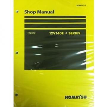 Komatsu Niger 12V140E-3 Series Engine Factory Shop Service Repair Manual