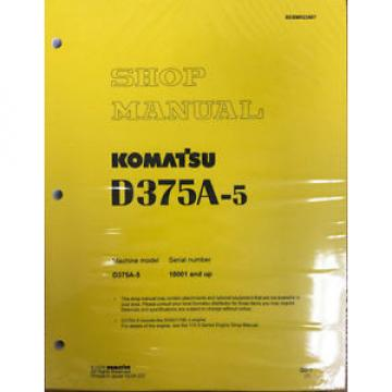 Komatsu Botswana  D375A-5 Service Repair Workshop Printed Manual