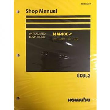 Komatsu Laos  HM400-2 Shop Service Manual Articulated Dump Truck