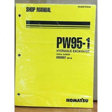 Komatsu Guyana  Service PW95-1 Excavator Shop Manual NEW REPAIR