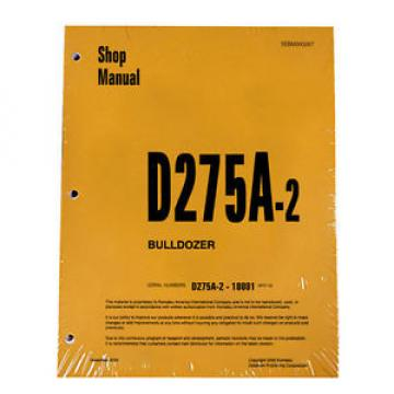 Komatsu Honduras  D275A-2 Bulldozer Service Workshop Repair Printed Manual