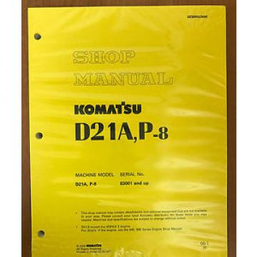 Komatsu Iran  Service D21A-8, D21P-8 Shop Manual Dozer Workshop Repair Book