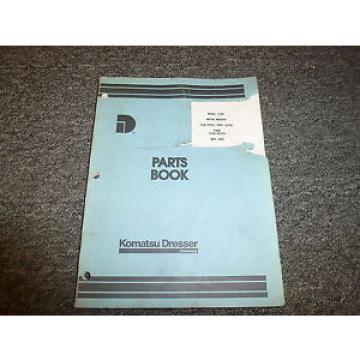 Komatsu Cuba Dresser 118B Motor Grader Parts Catalog Manual Book S/N 07601-10750