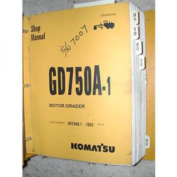 Komatsu Gambia  GD750A-1 SERVICE SHOP REPAIR MANUAL MOTOR GRADER CEBM002104 BINDER BOOK