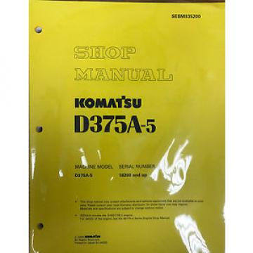 Komatsu Ethiopia  D375A-5 Service Repair Workshop Printed Manual