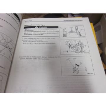 Komatsu Malta PC228US-3 PC228USLC-3 Excavator Operation & Maintenance Manual 2004