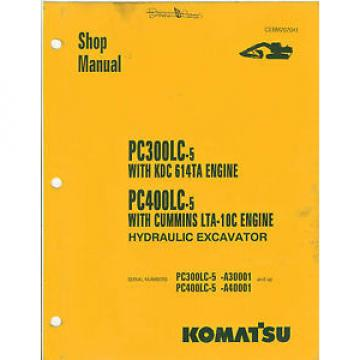Komatsu Rep.  PC300LC-5 PC400LC-5 Excavator Shop Manual