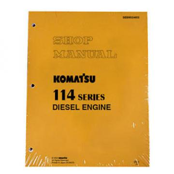 Komatsu Uruguay  114 Series Diesel Engine Service Workshop Printed Manual
