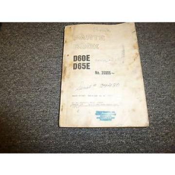 Komatsu Swaziland  D65E-6 Bulldozer Parts Catalog Manual Manual Book 24780