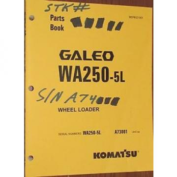 PARTS Suriname  MANUAL FOR WA250-5L SERIAL A73000 KOMATSU WHEEL LOADER