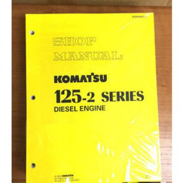 Komatsu Ethiopia  125-2 Series Diesel Engine Service Workshop Printed Manual