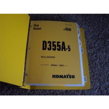 Komatsu Argentina  D355A-5 12622- Bulldozer Factory Original Service Shop Manual