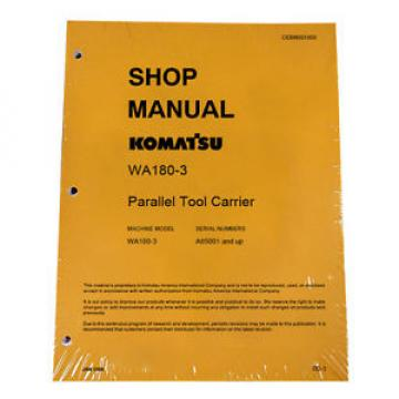 Komatsu Argentina  WA180-3 Parallel Tool Service Repair Manual