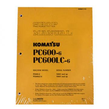 Komatsu Mauritius  Service PC600-6, PC600LC-6 Service Repair Manual