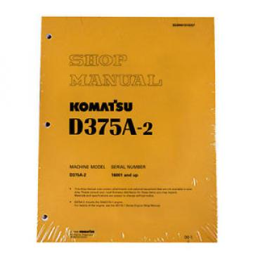 Komatsu Azerbaijan  D375A-2 Bulldozer Service Repair Workshop Printed Manual