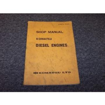 Komatsu Bahamas  4D120-11 S4D120-11 4D155-3 Diesel Engine Shop Service Repair Manual Book