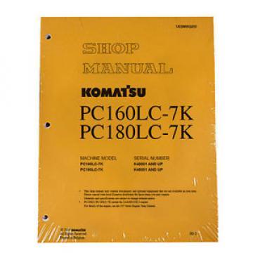Komatsu Liechtenstein Excavator Service PC160LC-7K, PC180LC-7K Shop Printed Manual