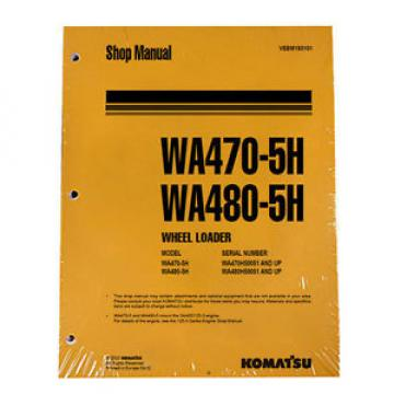 Komatsu France  WA470-5H, WA480-5H Service Repair Manual