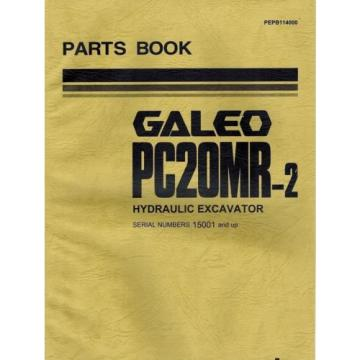 "KOMATSU Niger  GALEO PC20MR-2 HYDRAULIC EXCAVATOR  MANUAL ""NEW"" PEPB114000"