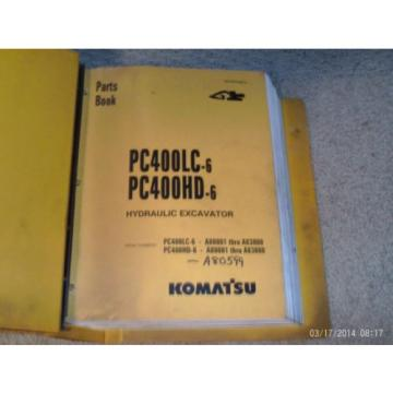 Komatsu Barbuda  PC400LC -6 PC400HD -6 Excavator Parts Catalog Manual # BEPB4006C3